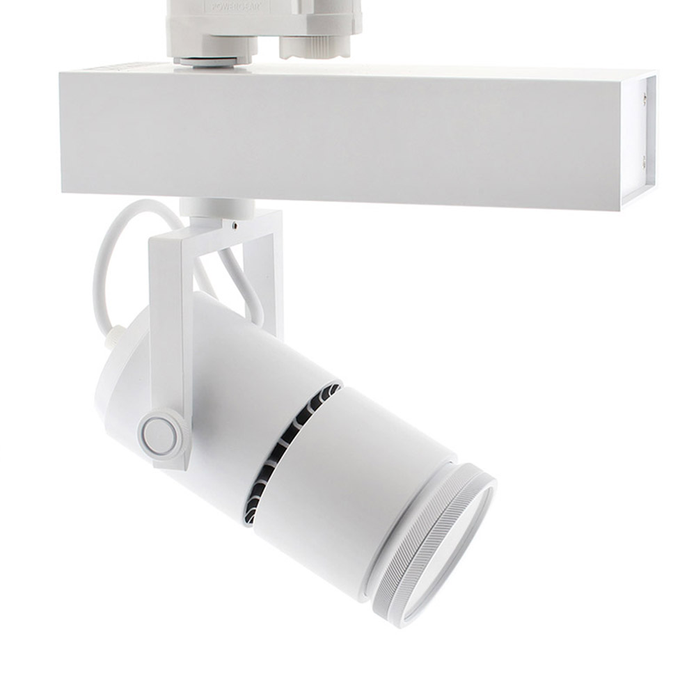Foco carril TELESCOPIC CITIZEN LED, 28W, 10º-70º, blanco, Regulable, Blanco frío, Regulable